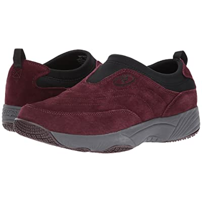Propet Wash Wear Slip-On II (Merlot Suede) Women