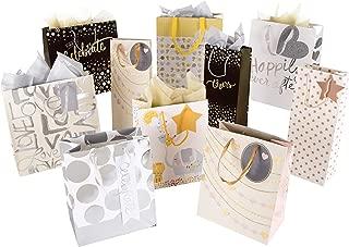 Hallmark Gift Bag and Tissue Pack - 4 Medium Bags, 3 Small Bags, 3 Bottle Bags & 2 Tissue Packs