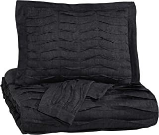 Ashley Furniture Signature Design - Voltos Comforter Set - Includes Duvet Cover & 2 Shams - King Size - Charcoal