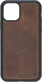 Bouletta Handmade Genuine Leather Protective Phone Back Cover Case for Apple iPhone 11 (XI) Pro 5.8'' (Roasted Coffee Brown)