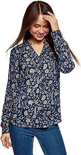 iChunhua Blusa Tipo t/única con Cuello en V Floral de Verano para Mujer