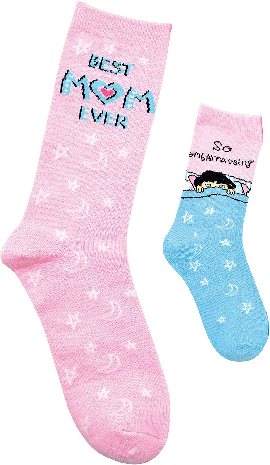 Mommy & Me, 2-Pair Matching Sock Set, Embarrassing Mom