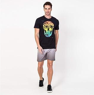 c6fb2d06f8732 Camisa T-shirt Casual Caveira Paradise Preta