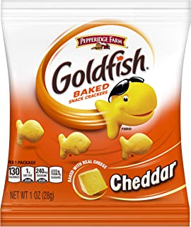 Pepperidge Farm Goldfish Cheddar Crackers, Multi Pack Box, 1 oz Single-Serve Snack Pack, 60Count