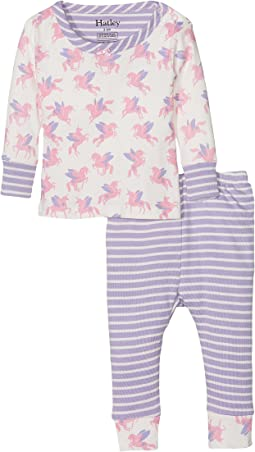 Hatley Kids - Rainbow Unicorns PJ Set (Infant)