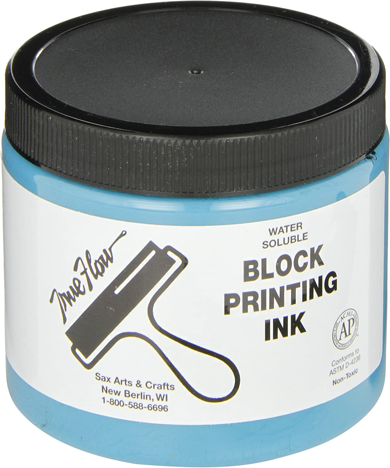 Sax True Flow Water Soluble Block Printing Ink - 16 Ounces - Turquoise