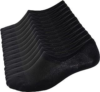 Poligono, Calcetines Cortos hombre y mujer, zapatillas invisibles de 92% algodón elástico, calcetines cortos de tobillo, transpirables, deportivos, antideslizantes, calcetines bajos