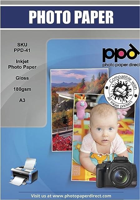 PPD PPD-41 Papel fotográfico con brillo A3 100 Hojas