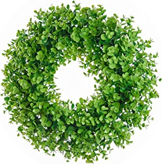 Lvydec Artificial Green Leaves Wreath - 17