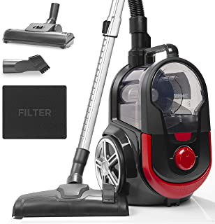 Duronic Bagless Cylinder Vacuum Cleaner VC7020 | Cyclonic Pet Carpet and Hard Floor Cleaner | 700W | HEPA Filter | Extendable Hose | Turbo Brush & 2-in-1 Tool Included [Energy Class A+]