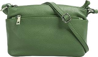 Cluty Umhängetasche Leder, Made in Italy echt Leder Damen - 020617