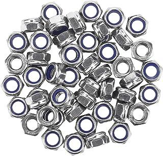 5pcs Dimensioni : M12 Nologo Hex Nut Stainless Steel Nylon Lock Nut Hex Lock Nylon Lock Nut