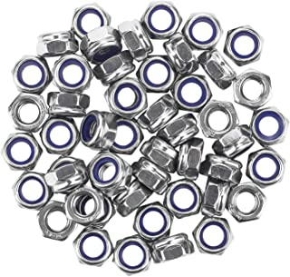 5-100PCS Hex Nut Steel Dome Threaded Nylon Nylock Self-Locking Stainless