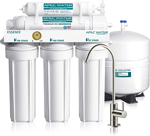 APEC Water Systems ROES-50 Essence Series Top Tier 5-Stage Certified Ultra Safe Reverse Osmosis Drinking Water Filter...