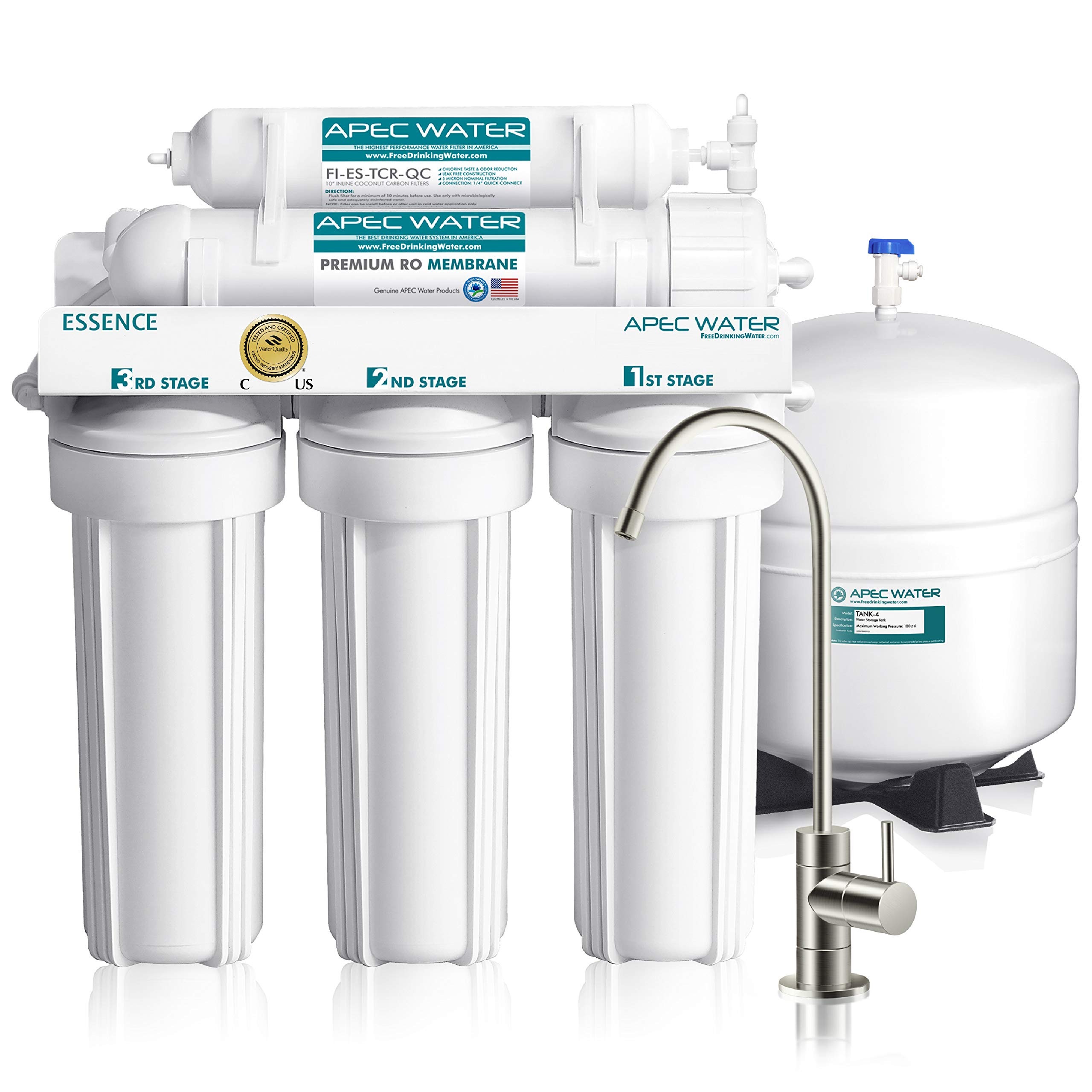 Apec Top Tier 5 Stage Ultra Safe Reverse Osmosis Drinking Water Filter System Essence Roes 50 Amazon Sg Home Improvement