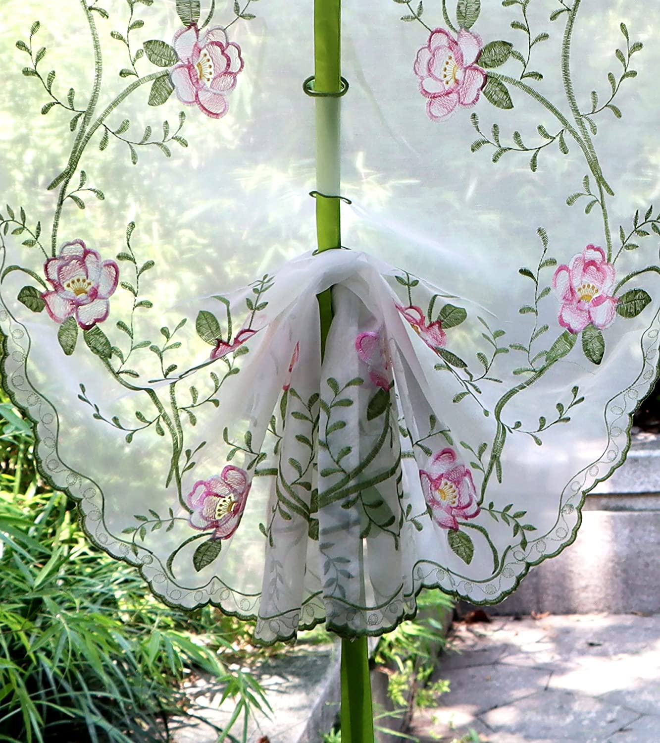Lace Balloon Shade Valance Farmhouse Embroidered Floral lowest price Fees free Sheer Ti