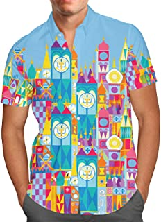 Its A Small World Disney Parks Inspired Mens Button Down Short Sleeve Shirt