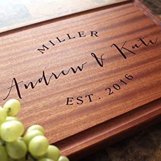 Anniversary Birthday Corporate Housewarming Personalized Cutting Board Arched Engraved Serving Cheese Plate Closing Gift #216 Custom Keepsake Wedding Engagement