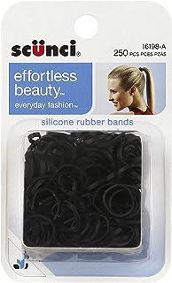 Scunci 1619803a048 Black Hair Rubber Bands 250 Count