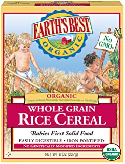 Earth's Best 全麦米粉 8盎司(227克) (6个?#24405;?#20197;上) (12包装)(包装随机发货)