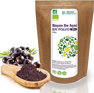 comprar comparacion Bayas De Acai En Polvo Orgánico 100 g – Bayas Acai Congelado BIO (Freeze – Dried/Liofilizadas) – Acai Berry Extracto Crudo...