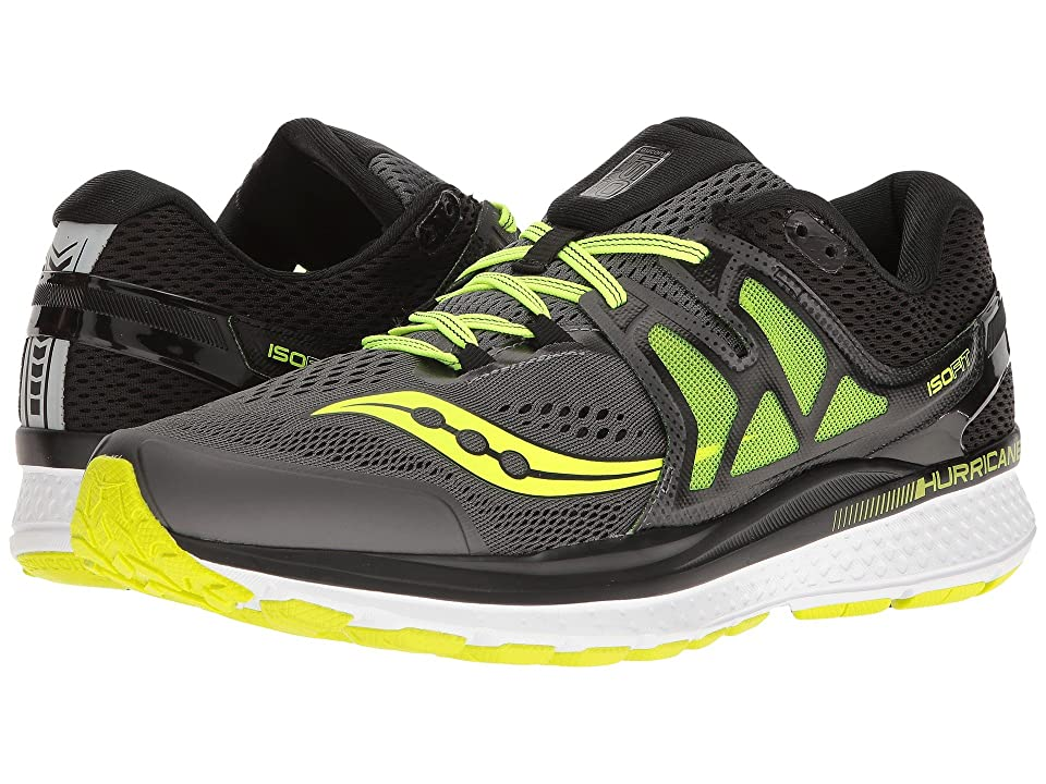 Saucony Hurricane ISO 3 (Grey/Black/Citron) Men