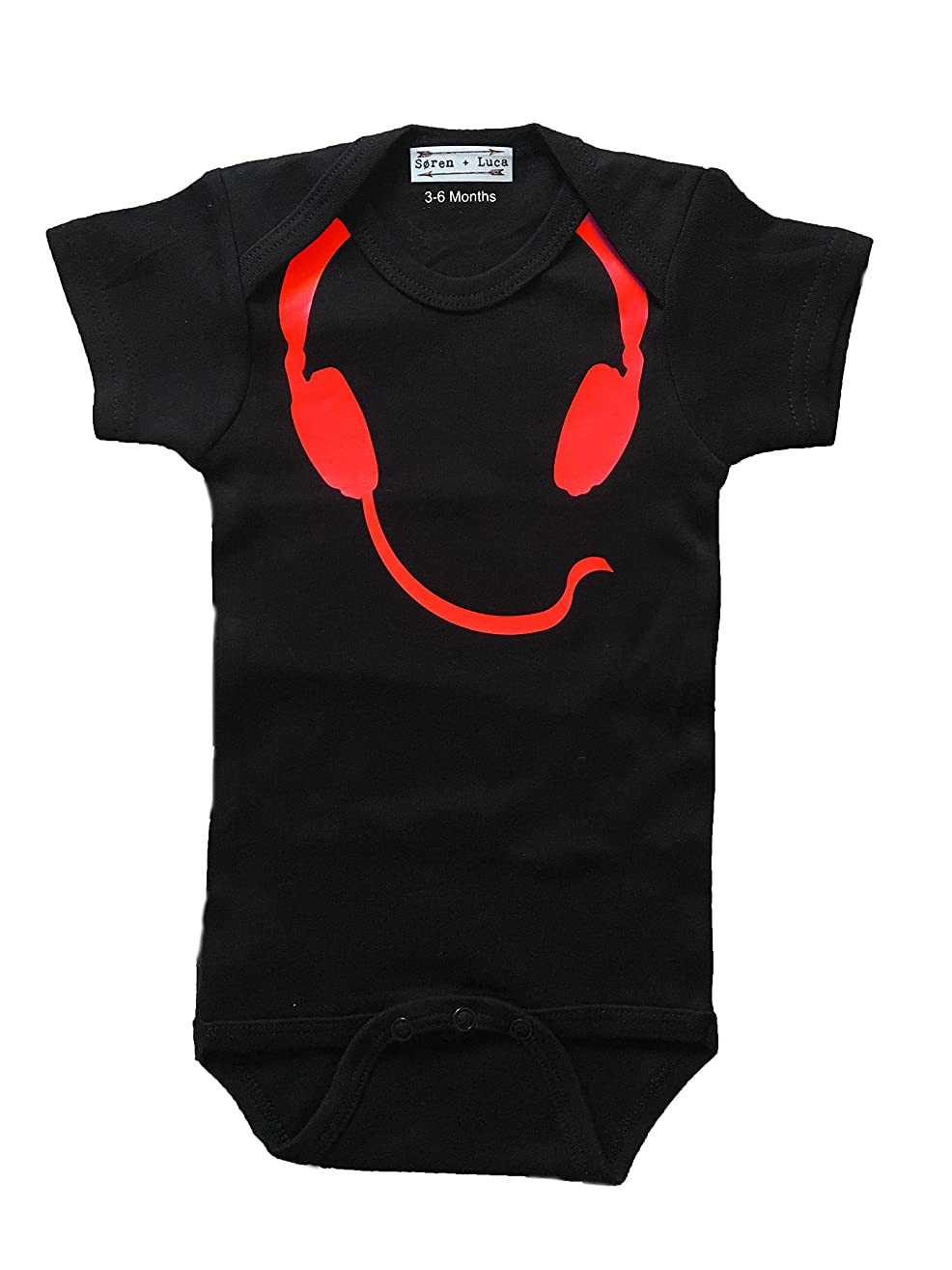 Toddler Headphones Bodysuit And Tee Shirt
