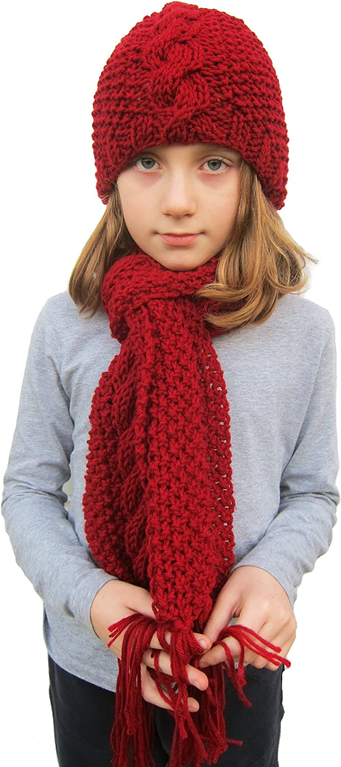 Handmade Max 51% OFF Knitted ALPACA Scarf and Hat by Cus - Hand Charlotte Mall Set