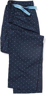 Savile Row Company Men's Navy Fleur-De-LYS Lounge Pants XL