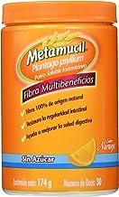 Metamucil Suplemento de Fibra Sabor Naranja sin Azucar, 174