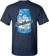 Southern Charm Mason Jar Southern State of Mind Short Sleeve Navy T Shirt