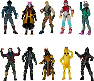 """Fortnite The Chapter 1 Collection - Ten 4"""" Action Figures, Featuring Recruit (Jonesy), Black Knight, Rust Lord, The Visito..."""