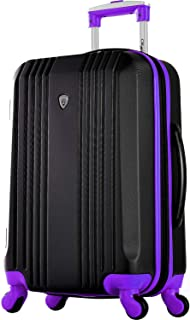 "Olympia Apache Ii 21"" Carry-on Spinner, Black/Purple"