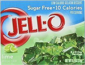 Jell-O Lime Sugar Free Gelatin 0.6 Oz (4 Pack)