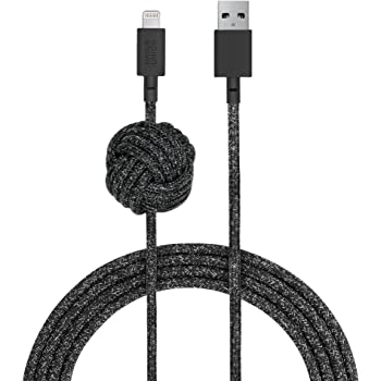 Native Union Night Cable - 10ft Ultra-Strong Reinforced [MFi Certified] Durable Lightning to USB Charging Cable with Weighted Knot Compatible with iPhone/iPad (Cosmos)