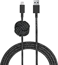 Native Union Night Cable - 10ft Ultra-Strong Reinforced [Apple MFi Certified] Durable Lightning to USB Charging Cable with Weighted Knot for iPhone/iPad (Cosmos)