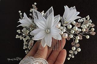Pearl Crystal Bridal Hair Comb, Wedding Hair Accessory