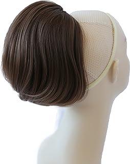 PRETTYSHOP BUN Up Do Hair Piece Hair Ribbon Ponytail Extensions Draw String Scrunchy Scrunchie Wavy Messy Medium brown # 1...