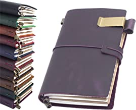 Leather Journal, Handmade Vintage Refillable Travel Diary Writing Notebook Gift for Men & Women 8.7