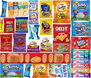 3 AM Snacks Care Package (50 Count) Cookies Bars Chips Candy Ultimate Variety Gift Box Pack Assortment Basket Bundle Mixed Bulk Sampler Treats College Students Office Valentines Day Chocolates
