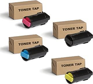 Toner Tap for Xerox Versalink C500 C500/DN C500/N C505 C505/DN C505/N Color Printers (4 Pack Bundle) - High Yield Compatible Toner Cartridge Set (OEM Part# 106R03862, 106R03863, 106R03864, 106R03865)