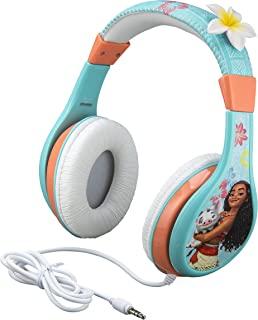 Kids Headphones for Kids Moana Adjustable Stereo Tangle-Free 3.5mm Jack Wired Cord Over Ear Headset for Children Parental Volume Control Kid Friendly Safe Perfect for School Home Travel