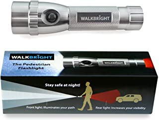 WALKBRIGHT The Pedestrian Safety Flashlight - Bright Front Light illuminates Your Path - Red Rear Light Provides Visibility from Behind - Stay Safe When You Walk at Night!