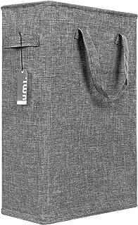 UMI Panier à linge fin 45 l avec poignées panier à linge portable petit panier pour vêtements sales étroit panier à ...