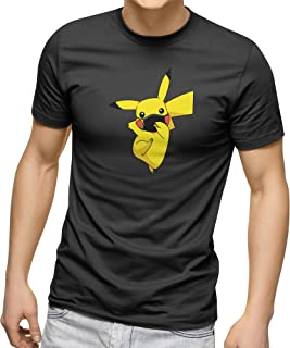CREO Customized Round Neck Shirt - Pikachu with mask