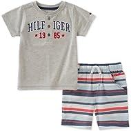 Tommy Hilfiger Baby Boys 2 Pieces Creeper Short Set