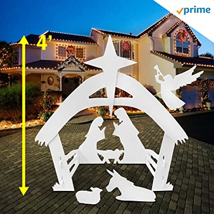 EasyGoProducts EGP-NAT-001 Set for Outdoor Christmas Decorations-Outside Yard Nativity None