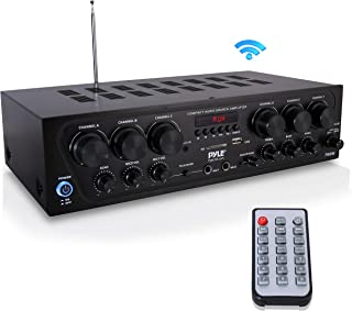 Bluetooth Home Audio Amplifier System - Upgraded 2018 6 Channel 750 Watt Wireless Home Audio Sound Power Stereo Receiver w...