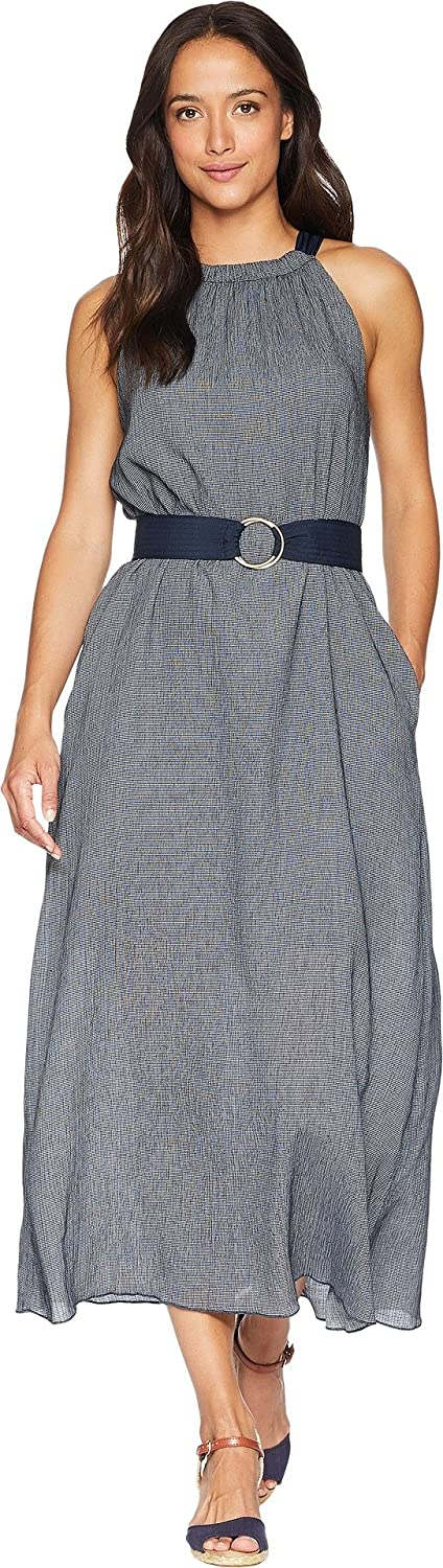 Ellen Tracy Womens Halter Dress w Belt