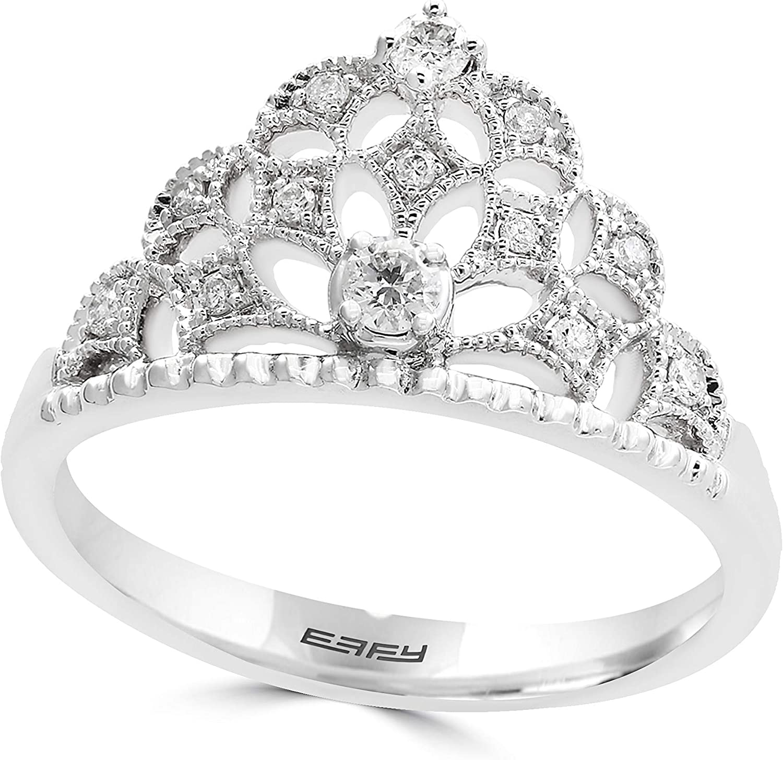 Effy Diamond Ring (1/5 ct. t.w.) in 14k White Gold